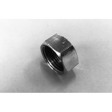 "écrou pour tringle 1/2"" x 10mm, chrome"