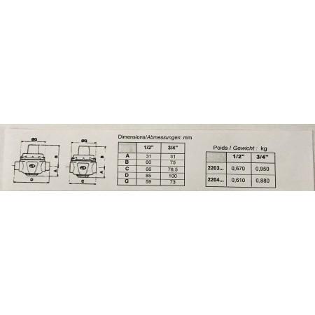 Réducteur de pression Reduneuf réglable, M x M