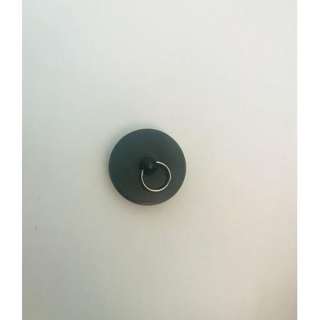 Bouchon en plastique noir avec anneau