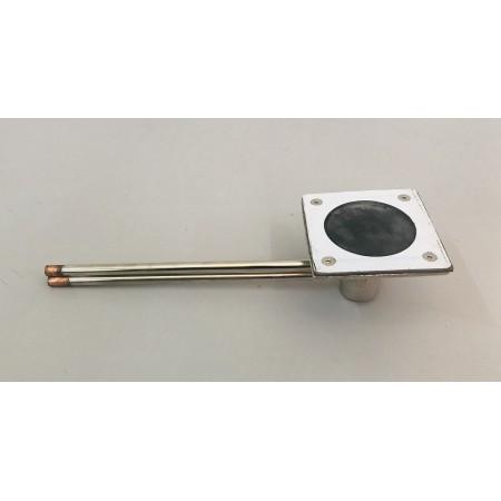 TEMPOSTOP robinet à commande au sol, enc. sous-plaque inox 10 cm x 10 cm