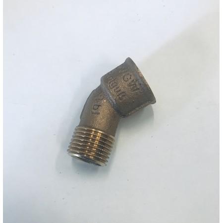 Coude 45°, bronze, F x M